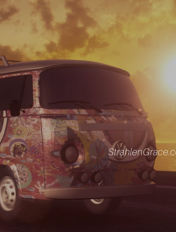 hippie van and sunset - Are We There Yet? 5 Fun Games to Play in the Car with Kids